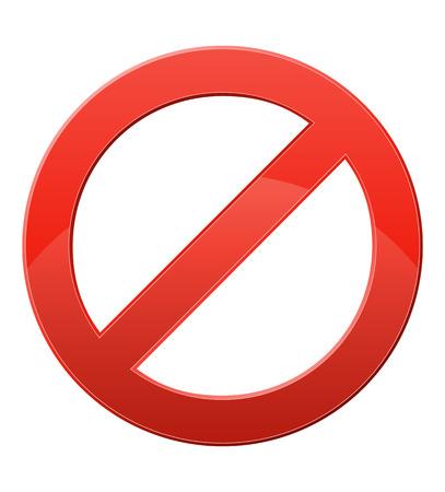 inhibition: prohibitory sign illustration isolated on white background