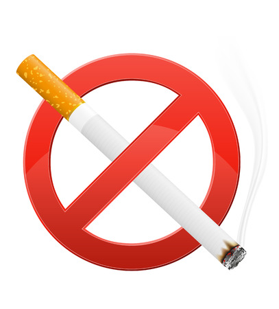 prohibiting: sign prohibiting smoking illustration isolated on white background