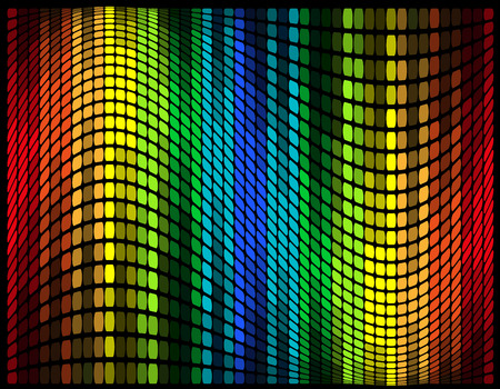 abstract multicolored graphic equalizer vector illustration isolated on black background illustration