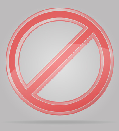 inhibition: transparent prohibition sign vector illustration isolated on gray background Stock Photo