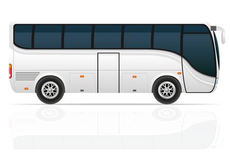 tour bus: big tour bus illustration isolated on white background