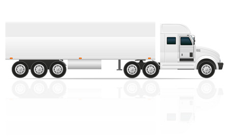 big truck tractor for transportation cargo illustration isolated on white background illustration