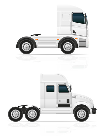 pick light: big truck tractor for transportation cargo illustration isolated on white background