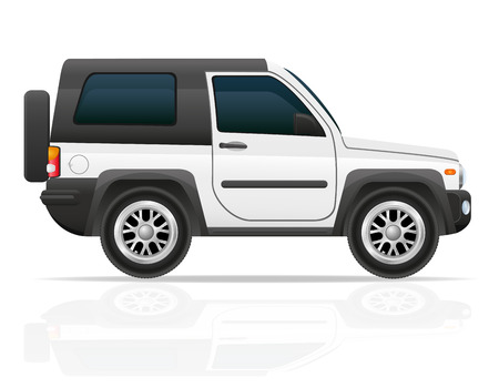 jeep: car jeep off road suv vector illustration isolated on white background