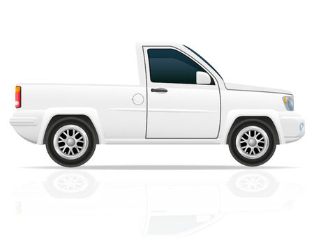 pickup truck: car pick-up vector illustration isolated on white background