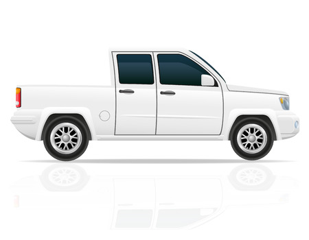 car pick-up vector illustration isolated on white background illustration