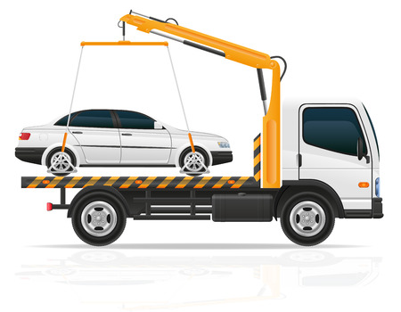 tow truck for transportation faults and emergency cars vector illustration isolated on white background
