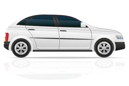 hatchback: hatchback car illustration isolated on white background