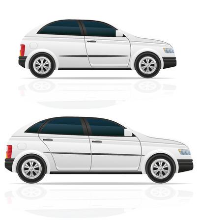 hatchback: hatchback cars illustration isolated on white background Stock Photo