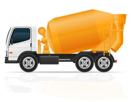 cisterns: truck concrete mixer for construction vector illustration isolated on white background