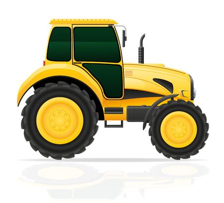 yellow tractor: yellow tractor vector illustration isolated on white background
