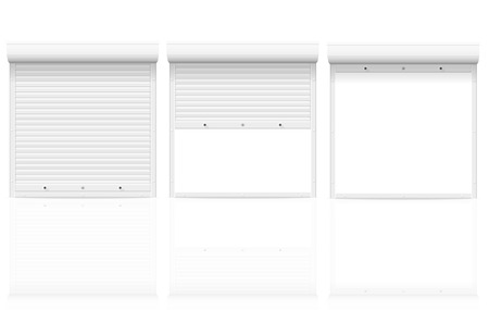 rolling shutters vector illustration isolated on white background illustration
