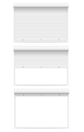 rolling garage door: rolling shutters vector illustration isolated on white background Stock Photo