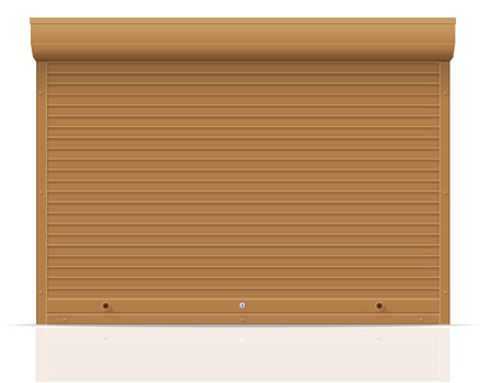 brown rolling shutters vector illustration isolated on white background illustration
