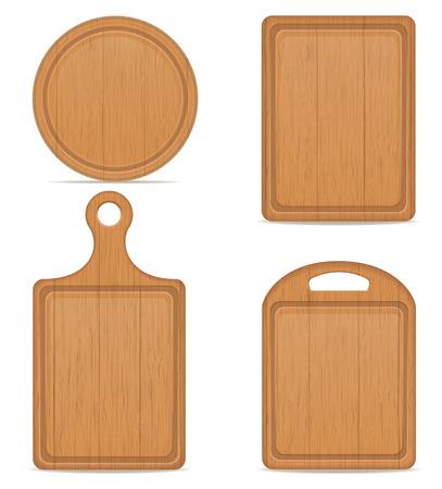 houten snijplank vector illustratie geïsoleerd op een witte achtergrond