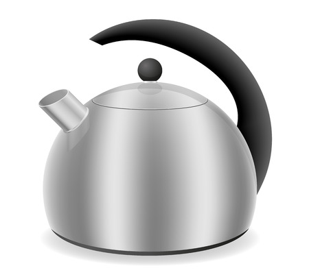 gas cooker: kettle for gas cooker vector illustration isolated on white background