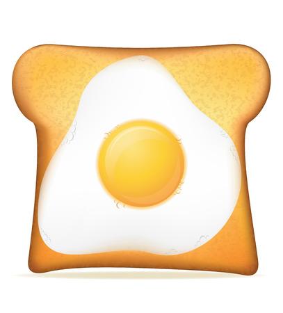 toast with egg vector illustration isolated on white background illustration