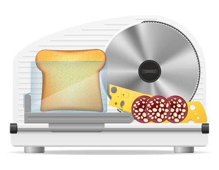 shallow: electric kitchen slicer vector illustration isolated on white background