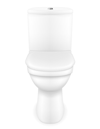 toilet bowl vector illustration isolated on white background illustration