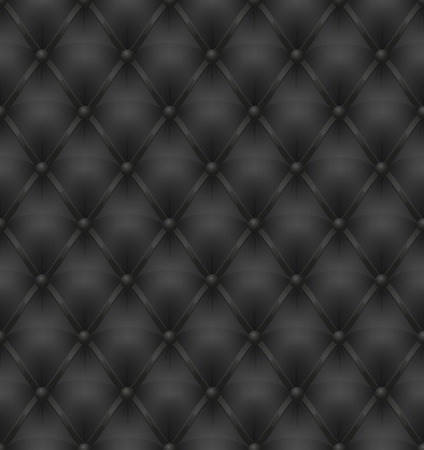 upholstered: black leather upholstery seamless background vector illustration