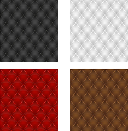 upholstered: set multicolored leather upholstery seamless background vector illustration