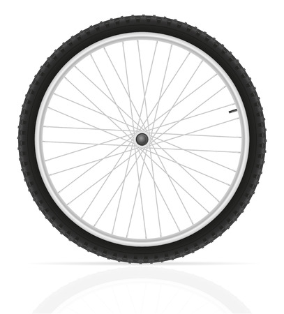 alloy wheel: bicycle wheel vector illustration isolated on white background