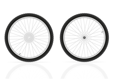 alloy wheel: bicycle wheels vector illustration isolated on white background