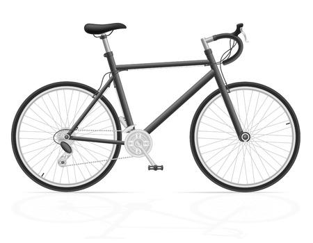 bicyclette: v�lo de route avec changement de vitesse illustration isol� sur fond blanc