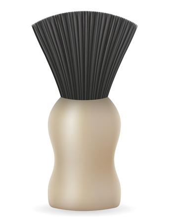 shaving brush: shaving brush vector illustration isolated on white background Stock Photo
