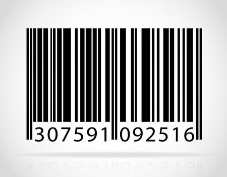barcode vector illustration isolated on white background Stock Photo