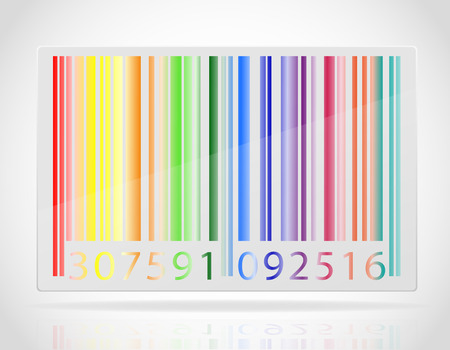multicolored barcode vector illustration isolated on white background Stock Photo