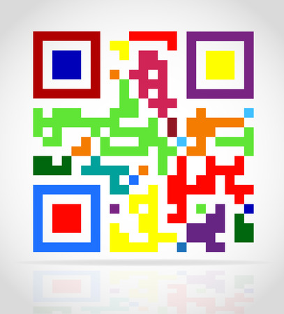 multicolored qr code vector illustration isolated on white background illustration