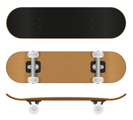 skateboard vector illustration isolated on white background Фото со стока