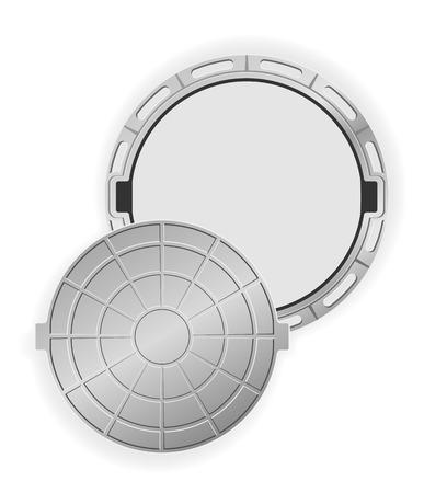 gutter: open manhole vector illustration isolated on white background