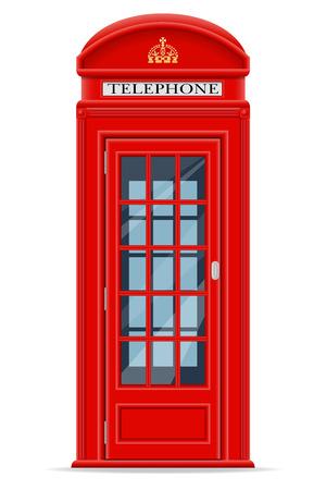 Londra telefono rosso illustrazione cabina illustrazione isolato su sfondo bianco Archivio Fotografico - 39795985