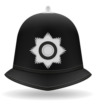 beefeater: london police helmet vector illustration isolated on white background