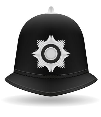 grenadier: london police helmet vector illustration isolated on white background