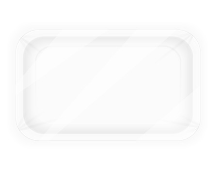 plastic container: white plastic container packaging for food vector illustration isolated on background