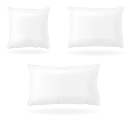 white pillow: white pillow to sleep vector illustration isolated on background