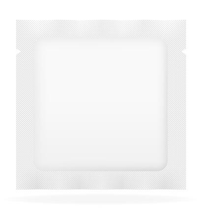 sealed: white sealed bag packing vector illustration isolated on background