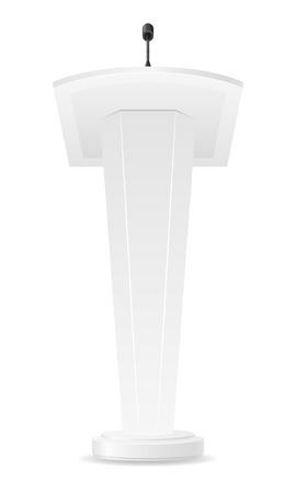tribune: white tribune vector illustration isolated on background