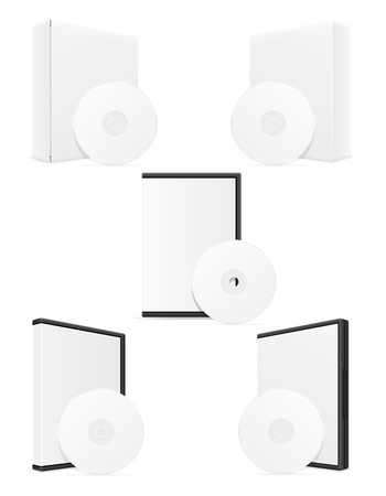 cd case: cd and dvd bisk box case packing vector illustration isolated on white background