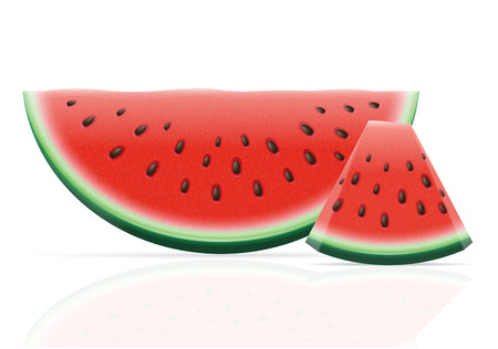 watermelon: watermelon ripe juicy vector illustration isolated on white background Stock Photo