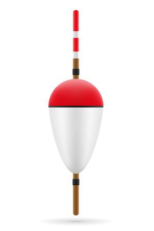 bobber: bobber for fishing vector illustration isolated on white background