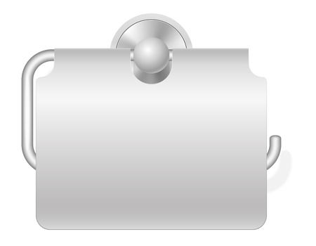 cellulose: toilet paper holder illustration isolated on white background
