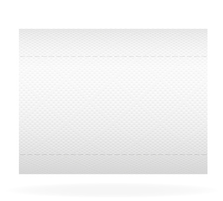 perforated sheet: toilet paper illustration isolated on white background