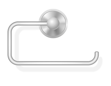 perforated sheet: toilet paper holder illustration isolated on white background