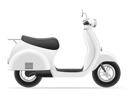 scooter: ilustraci�n vectorial vespa retra aislada en el fondo blanco