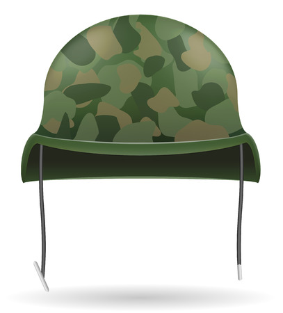 military uniform: military helmets vector illustration isolated on white background Stock Photo