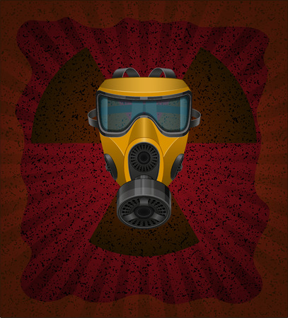 contamination: concept of radioactive contamination vector illustration isolated on white background